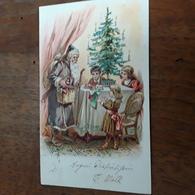 Cartolina Postale 1900, Buon Natale - Santa Claus