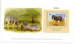 Animals Of The Worl Stamp Collection - Zebra -Al Qiwain-voir état - Other