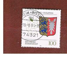GERMANIA (GERMANY) - SG 2584  - 1994 LANDER OF FEDERAL REPUBLIC: SCHLESWIG-HOLSTEIN (ARMS) - USED - [7] Federal Republic