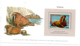 Animals Of The Worl Stamp Collection - Walrus - Guinea-voir état - Other