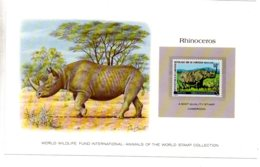 Animals Of The Worl Stamp Collection - Rhinoceros -Cameroon-voir état - Other