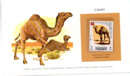 Animals Of The Worl Stamp Collection - Camel -Yemen-voir état - Other