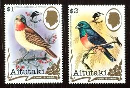 Aitutaki 1990; Animals & Fauna, Birds; MNH, Neuf** Postfrisch; Scarce Overprinted Set!! - Aitutaki