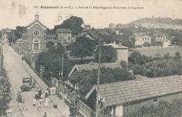95) ARGENTEUIL : Rue De La République Et Panorama D'Orgemont  (1912) - Argenteuil