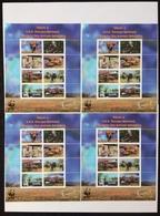 Mozambique 2002; Wild Animals WWF; MNH VF** Scarce Sheets!! CV 80 Euro!! - W.W.F.