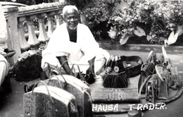 Real Photo Véritable - B&W RPPC - Nigeria Africa Afrique - Haoussa Hausa Hawsa Trader Commerçant - Animation - 2 Scans - Postcards