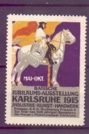 CINDERELLA  ERINOFILO MAY OCT BADISCHE GIUBILEO KARLSRUHE 1915 (GIUGN1900B113) - Erinnofilia