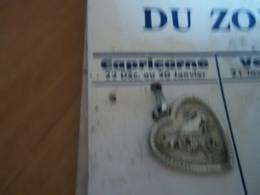 Pendentif En Métal Argenté Zodiaque ' Signe Du Capricorne ' Forme Coeur - Pendants