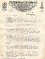 Lettre 1914 / ANGLETERRE /  LONDRES / STUART-PLASTER-PAD / Manufacture/ Traitement Hernie - Reino Unido