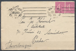 1928 PARIS - SMICHOV (Tchecoslovaquie) - Nice Cover - 1921-1960: Periodo Moderno