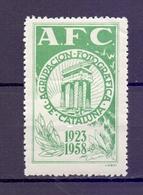 CINDERELLA  ERINOFILO AFC AGRUPACION FOTOGRAFICA CATALUNA 1958    (GIUGN1900B115) - Erinnofilia