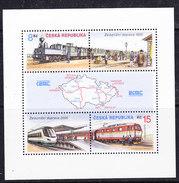 Czech Republic 2000 Trains/ Railroad M/s ** Mnh (43028C) - Blokken & Velletjes