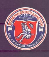 CINDERELLA  ERINOFILO BODENWERDER A D WESSWER 1937   (GIUGN1900B118) - Erinnofilia