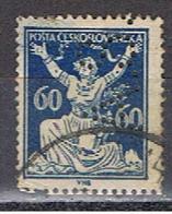 (TX 11) TCHECOSLOVAQUIE // YVERT 169 /7 PERFORE / PERFIN //  1920-25 - Oblitérés