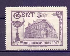 CINDERELLA  ERINOFILO BELGIE WERELDTENTOONDTELLING 1913  (GIUGN1900B119) - Erinnofilia