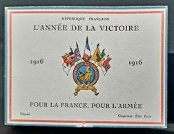 1916 CALENDRIER ANNEE DE LA VICTOIRE POUR LA FRANCE POUR L'ARMEE COQUEMER OLD CALENDAR GUERRE WW1 VICTORY YEAR MILITARIA - Documents