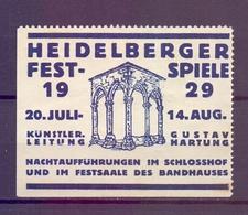CINDERELLA  ERINOFILO HEIDELBERGER FESTSPIELE 1929  (GIUGN1900B120) - Erinnofilia