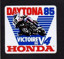 Autocollant Sticker / Sport Moto / DAYTONA 85 / Victoire Du V4 Honda - Stickers