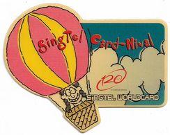 Singapore - Singtel - Card-Nival #1 Balloon (Irregular Shape) 10$, Exp. 01.2001, Used Rare! - Singapore