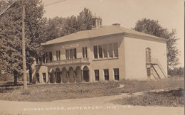 RPPC REAL PHOTO POSTCARD SCHOOL HOUSE WATERPORT NY - Other