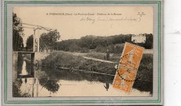 CPA - THENIOUX (18) - Aspect Du Pont à Bascule Du Canal Du Berry, Actuellement Déclassé, En 1925 - France