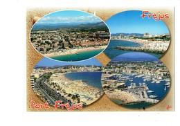 Cpm - 83 - FREJUS - MultIvues - Port Fréjus - Sable Coquillage - Frejus