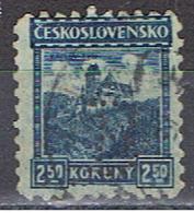 (TX 15) TCHECOSLOVAQUIE // YVERT 233 // PERFORE / PERFIN //  1928-35 - Oblitérés