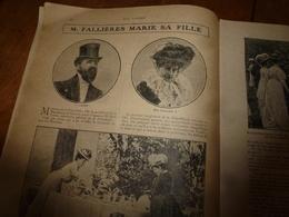 1908 NOS LOISIRS :Fallière,sa Fillet Et Loubet;Guérir Chez Les Zoulous;Bon Usage Des Bains De Mer; Flamands Roses;etc - Livres, BD, Revues