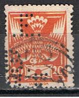 (TX 21) TCHECOSLOVAQUIE // YVERT 161 // PERFORE / PERFIN //  1920-25 - Oblitérés