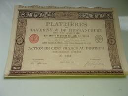 PLATRIERES DE TAVERNY & DE BESSANCOURT (imprimerie RICHARD) - Actions & Titres