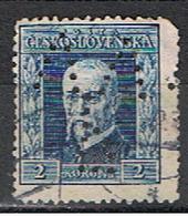 (TX 23) TCHECOSLOVAQUIE // YVERT 196 // PERFORE / PERFIN //  1925 - Oblitérés