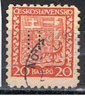 (TX 28) TCHECOSLOVAQUIE // YVERT 254 // PERFORE / PERFIN //  1931 - Oblitérés