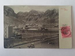 Yémen - Aden - The Jail / Prison - Carte Postale Glacé, Hotel De L'Europe Turkish Shop, I. Benghiat & Son, Aden - Yémen