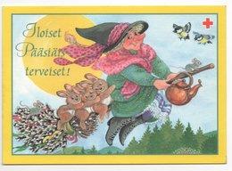 Postal Stationery RED CROSS  FINLAND - EASTER - ARTIST: MARJALIISA PITKÄRANTA - WITCH - BIRDS - Postage Paid - Postwaardestukken