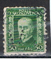 (TX 29) TCHECOSLOVAQUIE // YVERT 213 // PERFORE / PERFIN //  1926 - Oblitérés