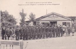 95-STAND DE LA ROUTE D'ENGHEIN À 15 MINUTES DE LA GARE D'AGENTEUIL- ANIMÉE (PLIURE AU MILIEU) - Enghien Les Bains
