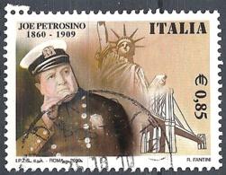 Italia, 2010 Joe Petrosino, 0.60€ # Sassone 3188 - Michel 3398 - Scott 3017  USATO - 6. 1946-.. Repubblica
