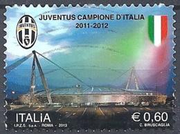 Italia, 2012 Juventus Campione D'Italia, 0.60€ # Sassone 3336 - Michel 3547 - Scott 3131  USATO - 6. 1946-.. Repubblica