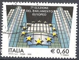 Italia, 2009 Elezione Del Parlamento Europeo, 0.60€ # Sassone 3087 - Michel 3296 - Scott 2925  USATO - 6. 1946-.. Repubblica