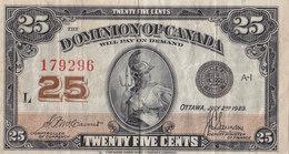 1923 DOMINION OF CANADA 25 CENTS 179296 - Kanada