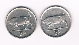 2 X 5 PENCE 1996+1998 IERLAND /4566/ - Irlande