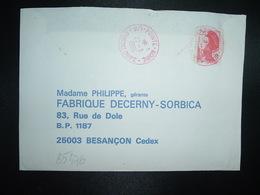 LETTRE TP LIBERTE 2,20 OBL. ROUGE 22-3 1986 971 POINTE NOIRE GUADELOUPE - 1982-90 Liberty Of Gandon