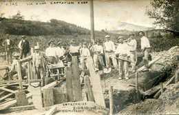 AJAC  = Carte Photo Captation D'eau Entreprise Fiorio Roumengous  782 - Autres Communes