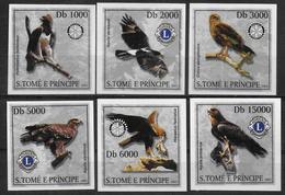 SAINT THOME ET PRINCE   N° 2992/95  * *  NON DENTELE  Lions Oiseaux Rapaces Aigles - Aigles & Rapaces Diurnes