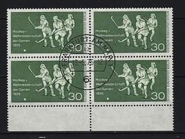 BERLIN - Mi-Nr. 521 Viererblock - Hockey-Weltmeisterschaft Der Damen Gestempelt - Gebraucht