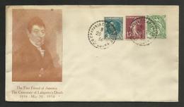 HAUTE LOIRE / CHAVANIAC LAFAYETTE 20.05.1934 / Centenaire De La Mort De LAFAYETTE - Postmark Collection (Covers)