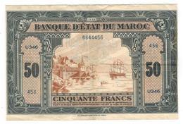 Morocco, 50 Fr. 1944, Crisp VF+!!!! - Morocco