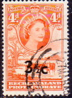 1961 BECHUANALAND Protectorate SG 161 3½c On 4d Used - Bechuanaland (...-1966)
