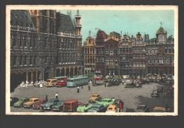 Brussel / Bruxelles - Grand'Place - Vintage Cars / Voitures - Autobus - éd. Artcolor - Places, Squares