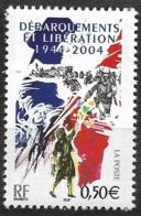 France-60e Anniversaire Débarquements-N°3675-Neuf** - France